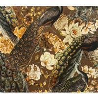 Peacock Regala Viscose Fabric 0.5m