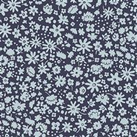 Liberty Carnaby Collection Bloomsbury Silhouette Navy Fabric 0.5m