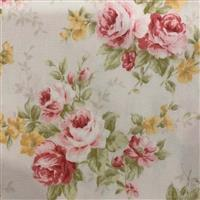 Floral Story Rose Bunches On Cream Fabric 0.5m - Sewing Street exclusive