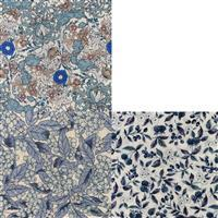 Country Floral Blue Berries Fabric Bundle (1.5m). Save £3.48