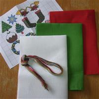 Cross Stitch Guild Christmas Linen Fabrics - Exclusive to Sewing Street