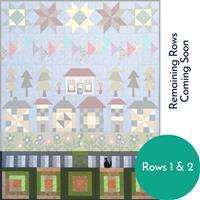 Village Fabrics: Village Street Row a Month; Row 1 Garden & Row 2 Fence, Special Price