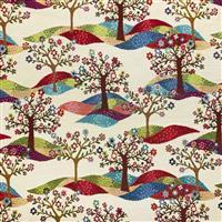 Tree of Life on Cream Fabric 0.5m