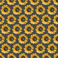 Show Me the Honey in Sunflower Grey Fabric 0.5m