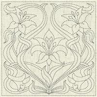 "Sashiko Purity Fabric Panel 30 cm x 30 cm (12"" x 12"")"