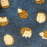 Hedgehogs On Navy Fabric 0.5m - exclusive