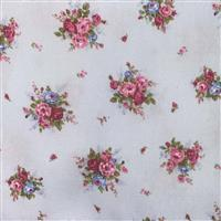 Floral Story Rose On Sky Fabric 0.5m  - Sewing Street exclusive
