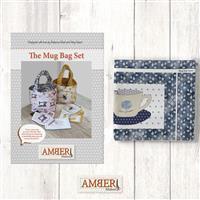 Amber Makes Blue Rose Mug Bag Kit: Instructions & Panel (70x103cm)