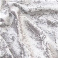 Platinum Crushed Velour 100% Polyester Fabric 0.5m