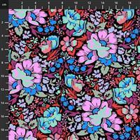Anna Maria Horner Love Always Multi Lilac Flower Fabric 0.5m
