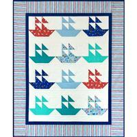 Village Fabrics Sail Boats Quilt Kit