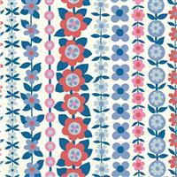 Liberty Carnaby Collection Soho Stripe Red and Blue Fabric 0.5m
