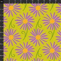 Sassy Summer Salsa Green Daisy Fabric 0.5m