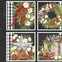 Christmas Patchwork Print Panel 0.9m