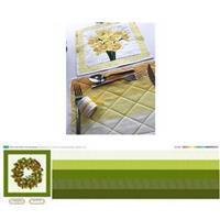 Christmas Festive Flower Wreath Table Set Kit: Instructions & Panel (140x42cm)