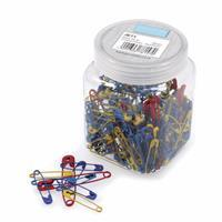 Jar of 200 Coloured Safety Pins
