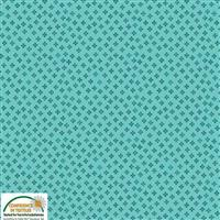 Gradiente Clubs On Turquoise Fabric 0.5m