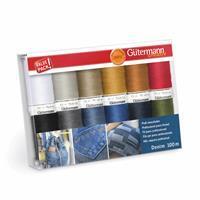 Gütermann Denim Thread Set Assorted Colours 12 x 100m
