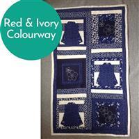 Sew with Beth Kimono & Sashiko Wall Hanging Kit: Red & Ivory