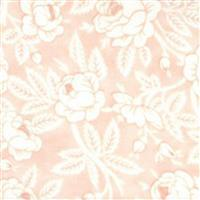 Moda Sanctuary in Salmon & White Rose Budding Fabric 0.5m