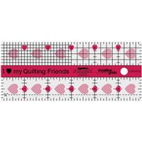 """Creative Grids® Mini Quilting Friends 6"""" Ruler"""
