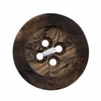 Brown Milward Carded Button 22mm