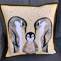 Delphine Brooks Navy Penguin Applique Cushion Kit: Instructions, FQ (4pcs) & Fabric (0.5m)