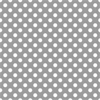White Spots On Grey Fabric 0.5m