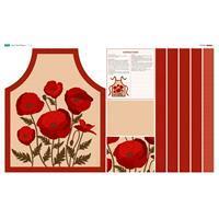 Poppy Taupe Apron Fabric Panel (140 x 87cm)