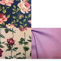 Country Floral Navy Flowers Fabric Bundle (1.5m). Save £2.48