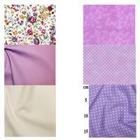 Button & Bow Mini Quilt Purple FQ Bundle (6pcs)