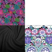 Purple and Black Kaffe Fabric Bundle SAVE (1.5m)