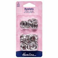 Nickel Eyelets Refill Pack: 10.5mm x 24 Pieces