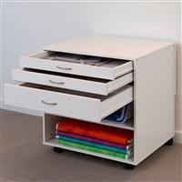 Horn Modular 3 Draw Cabinet White