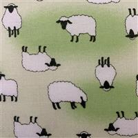 Sheep On Green Fabric 0.5m - exclusive