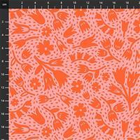 Squeeze Floral on Pink Fabric 0.5m