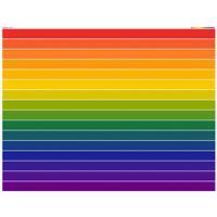 Rainbow Jelly Roll Fabric Panel. Size 140 x 100cm