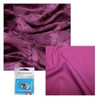 Grape Crushed Velour, Magenta Cotton & Snap Bundle