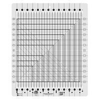 "Creative Grids® Non-Slip Stripology Squared Ruler 31.7cm (12½"") by Gudrun Erla"