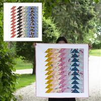 Lou Orth Riley Blake Ripple Quilt Kit: Pattern, FQ (5 pcs) & Fabric (2m)