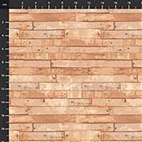 Certified Delicious Wood Planks on Birch Fabric 0.5m