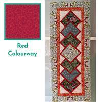 Lewis & Irene Noel in Red Table Runner Kit: FREE Instructions & Fabric (4m)