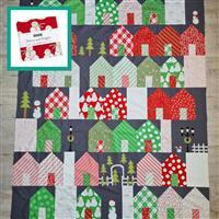 Moda Merry & Bright - Christmas in Quiltsburgh Quilt Kit (55 x 66.5 inches): Instructions, Charm Pack, FQ Pack (4pcs) & Fabric (2m)