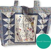 Sew with Beth Rather Be Sewing Tote Bag Peacock