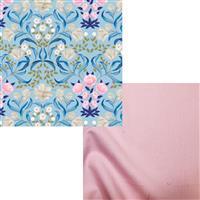 Blue & Pink Floral Fabric Bundle (1m)