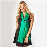 Aloe Vera Scarf - Emerald Green