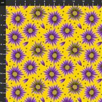 Sassy Summer Salsa Purple Flower Fabric 0.5m