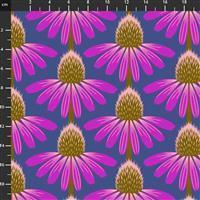 Anna Maria Horner Love Always Purple Flower Head Fabric 0.5m