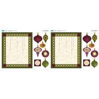 Traditional Bauble Applique Fabric Panel (70 x 61cm)