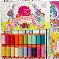 Aurifil Curiouser and Curiouser Thread Collection by Tula Pink 20 x 50wt Spools